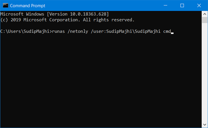 Run elevated Command Promptfrom command line