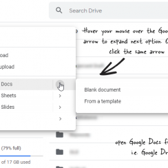 open Google Docs from Google Drive