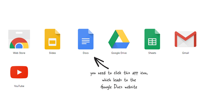 Install Chrome app to open Google documents