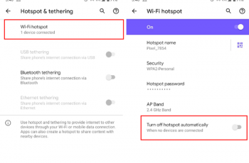 android hotspot turns off automatically