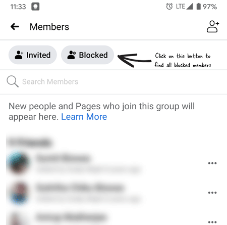 remove block for someone on facebook group
