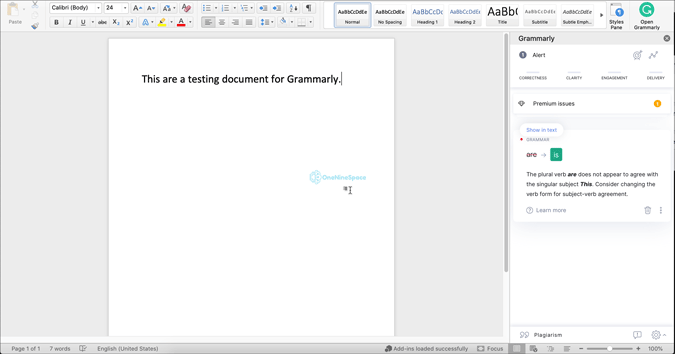 use grammarly for word on mac