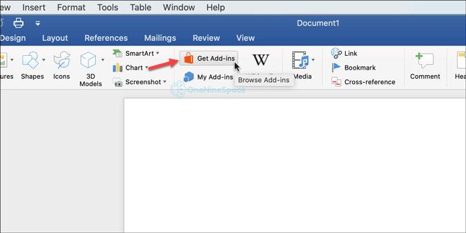 open add-in gallery in word for mac