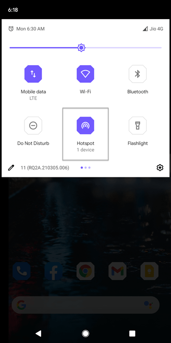 turn off mobile hotspot on android